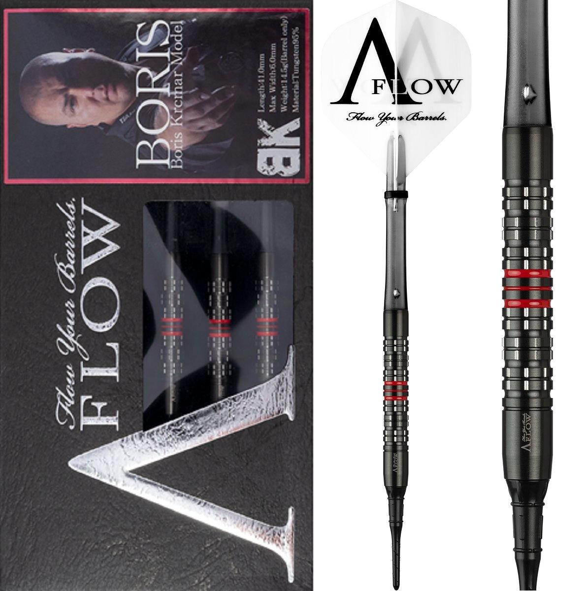 Dynasty A-FLOW Black Line Boris Krcmar Red 95% Soft Tip