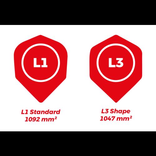 Dartshopper Flights Bedrukken L-Style L3 Shape (1 Set)