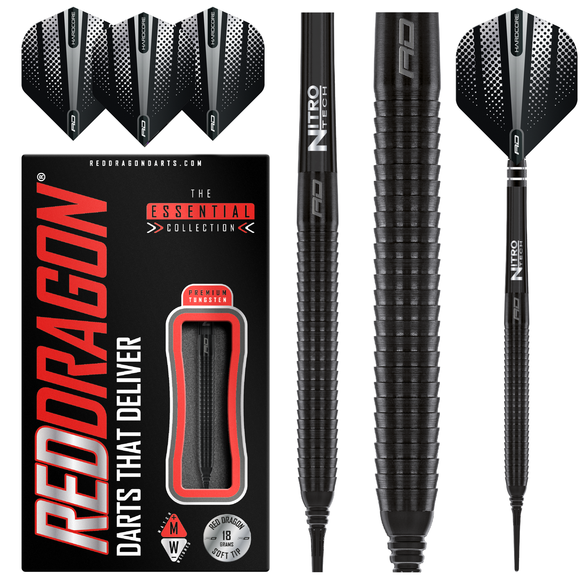 Red Dragon Razor Edge Black 85% Soft Tip