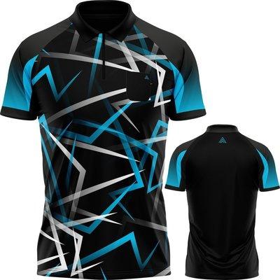 Arraz Flare Dartshirt Black & Blue