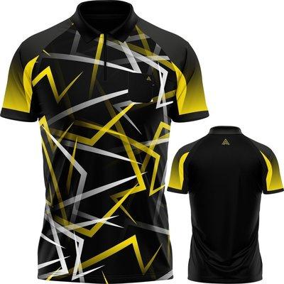Arraz Flare Dartshirt Black & Yellow
