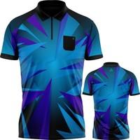 Arraz Arraz Shard Dartshirt Black & Blue-Purple