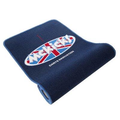 [Tweedekans] McKicks Carpet Dartmat Blue + Oche 300 x 65 cm