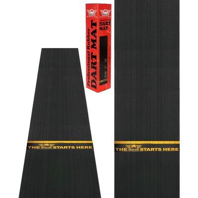 Rubber dartmat + throw line 300x60 cm
