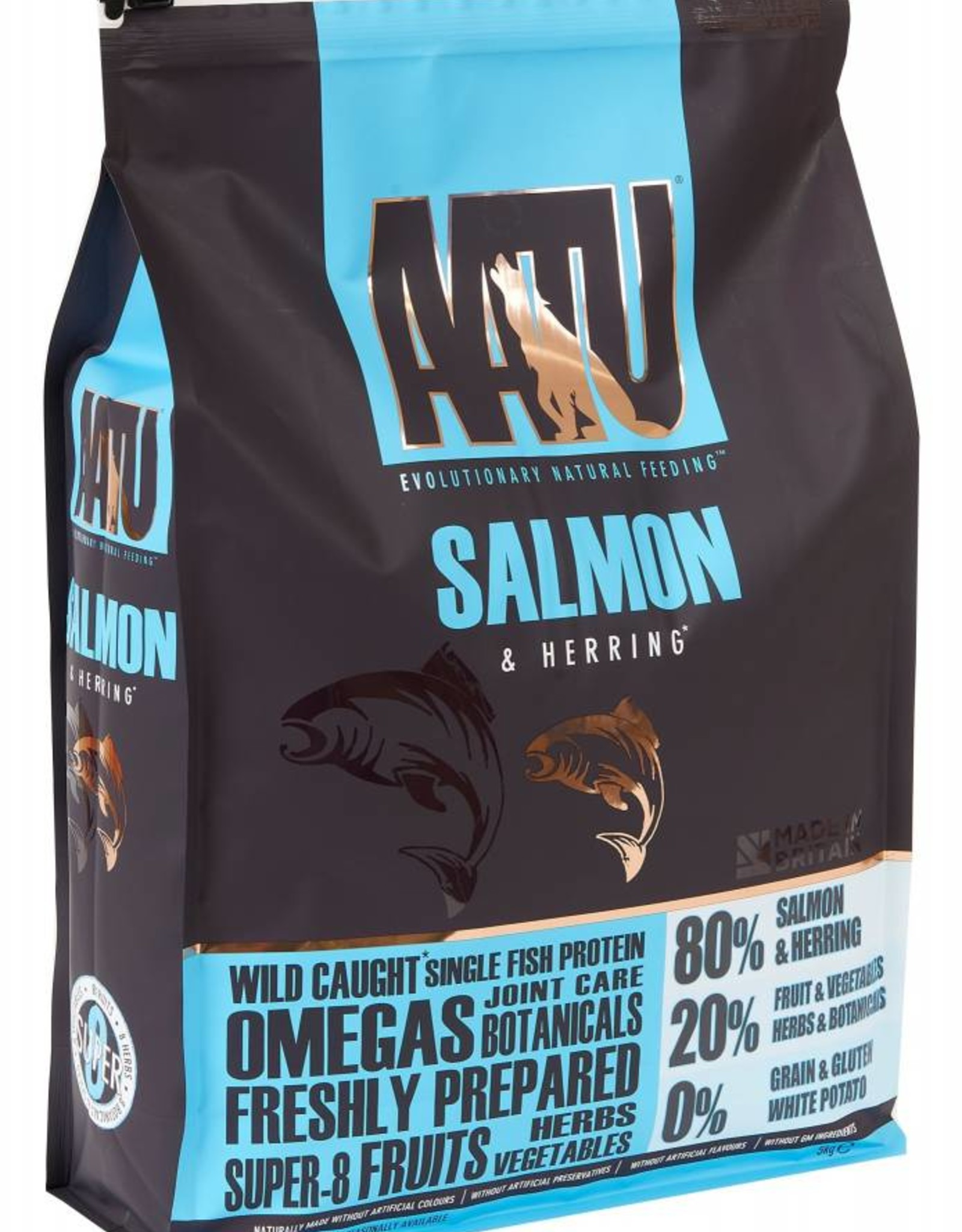 AATU 80/20 Dog Dry Food, Salmon