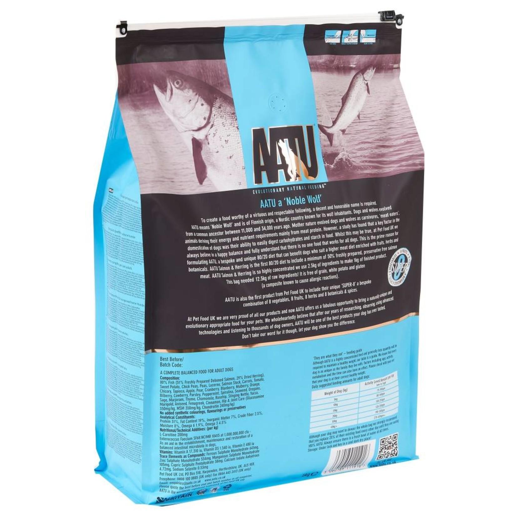AATU 80/20 Dog Dry Food, Salmon