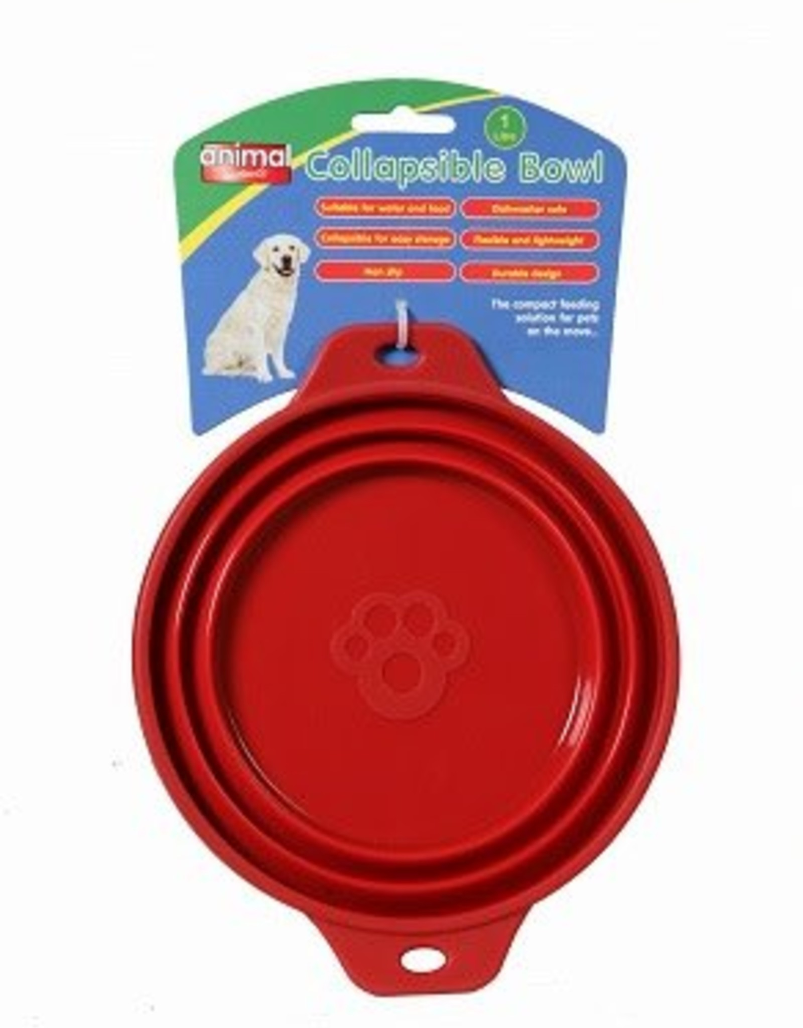 Animal Instincts Travel Collapsible Dog Bowl 1 litre