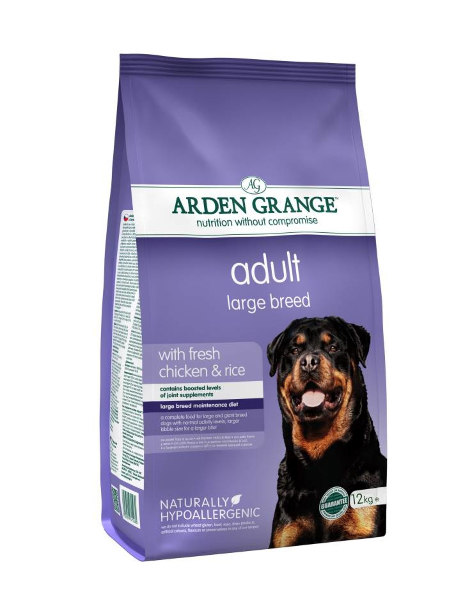 Arden Grange Adult Large Breed Dog Dry Food, Chicken & Rice
