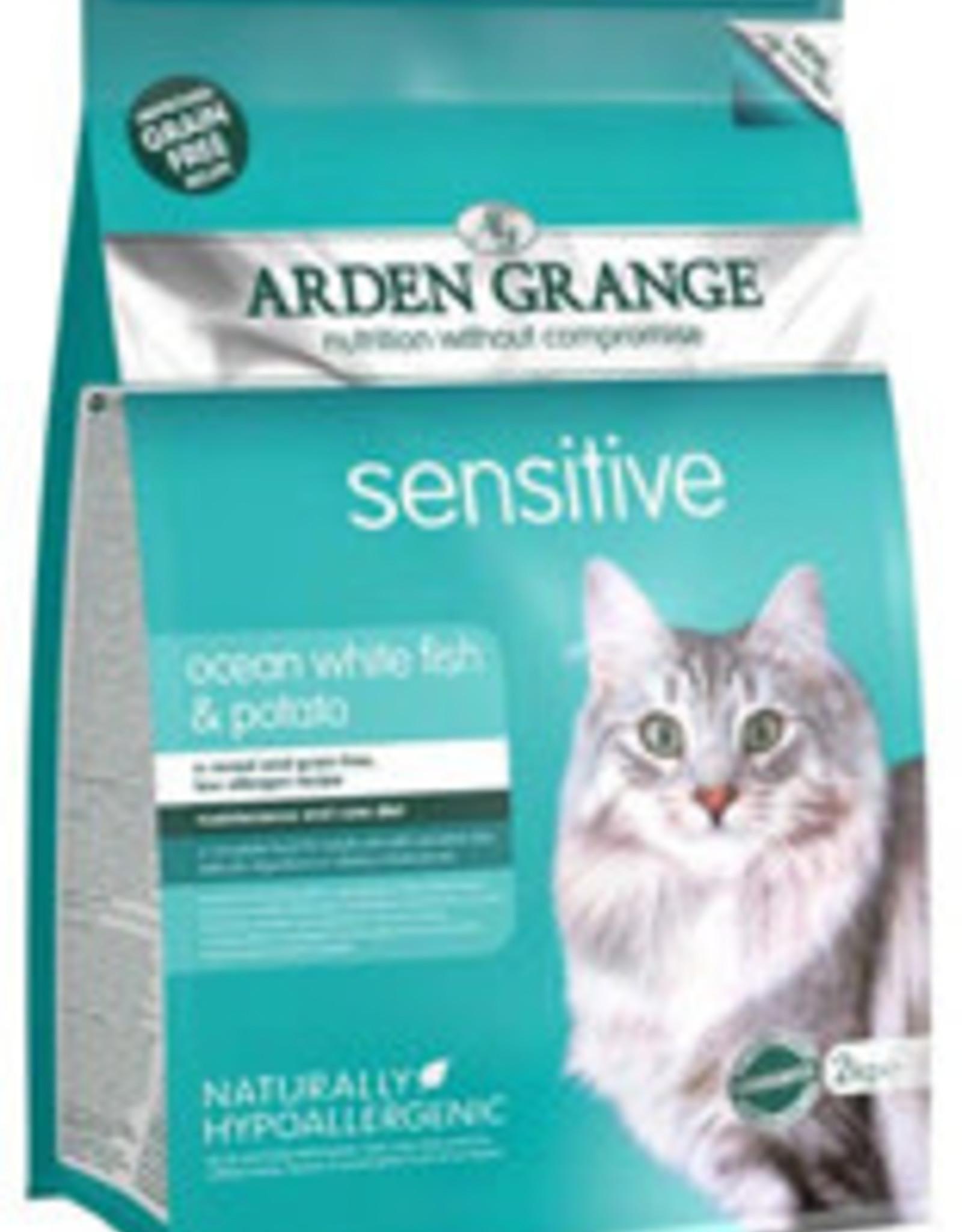 Arden Grange Grain Free Sensitive Cat Dry Food, Ocean White Fish & Potato