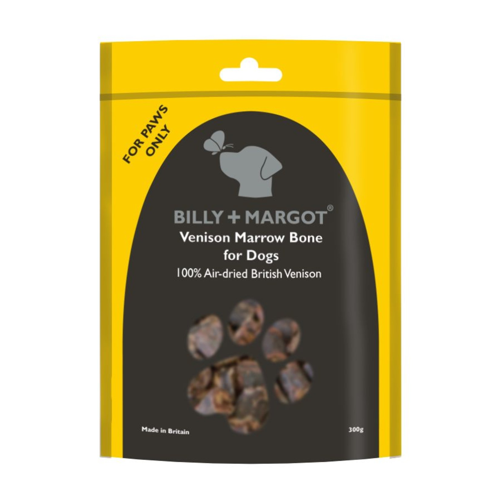 Billy + Margot Venison Marrow Bone Dog Treats, 300g