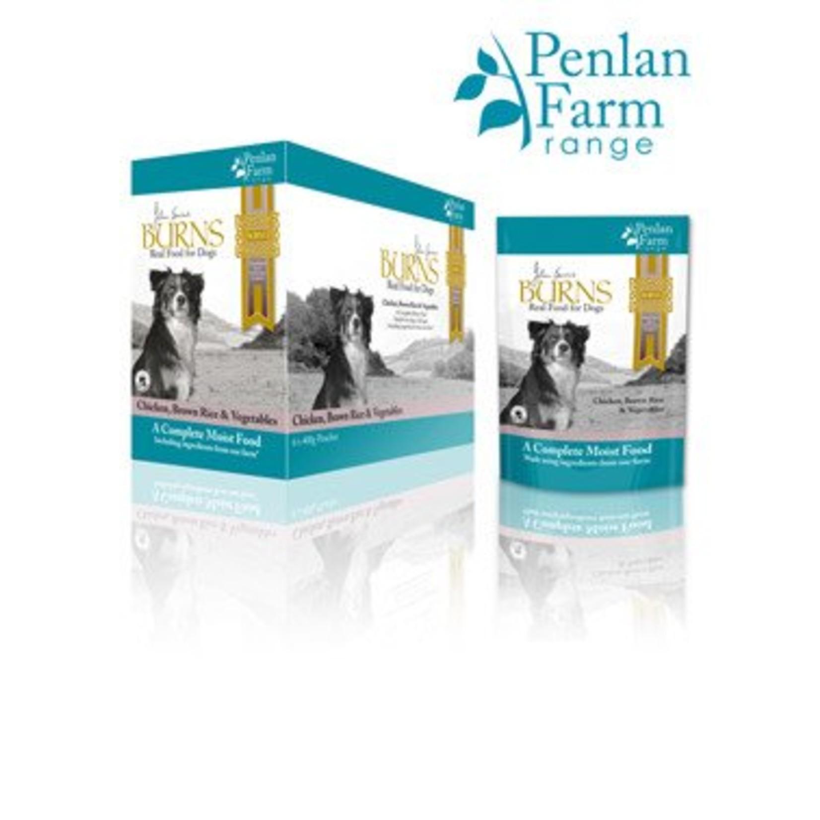 Burns Penlan Farm Dog Wet Food Pouch Complete Chicken Brown Rice & Veg 400g, Box of 6
