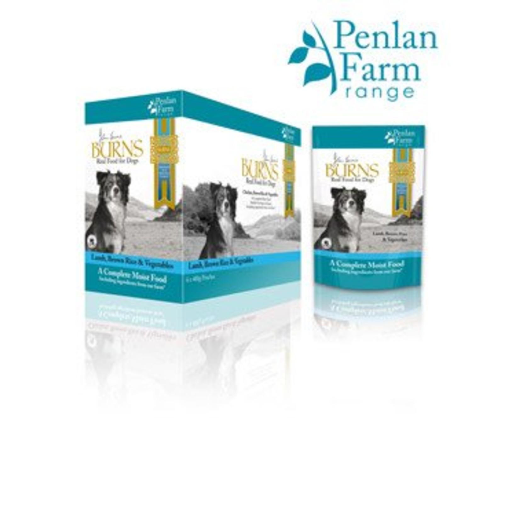 Burns Penlan Farm Dog Wet Food Pouch Complete Lamb Brown Rice & Veg 400g
