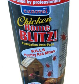 Canovel Chicken Home Blitz Poultry Red Mite Fumigator Twin Pack