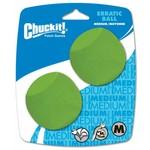 Chuckit Erratic Ball Dog Toy, Medium 6.5cm, 2 pack