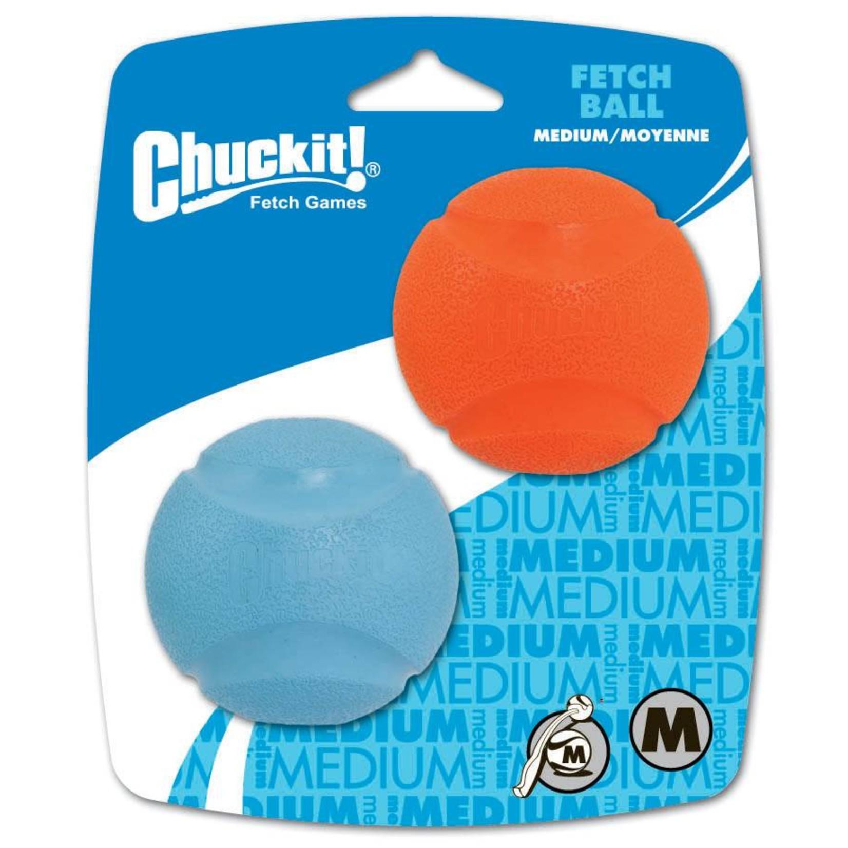 Chuckit! Fetch Ball Dog Toy, Medium 6.5cm, 2 pack