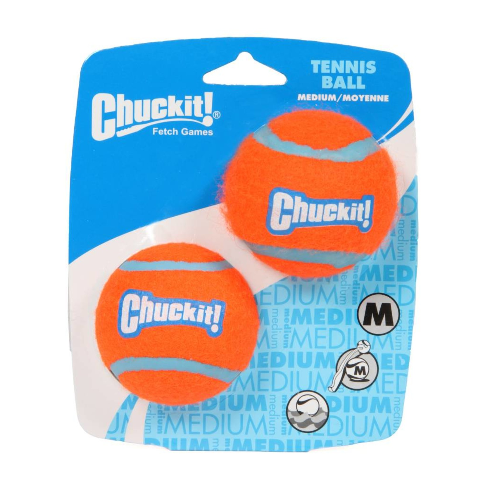 Chuckit Tennis Ball Dog Toy, Medium 6.5cm, 2 pack
