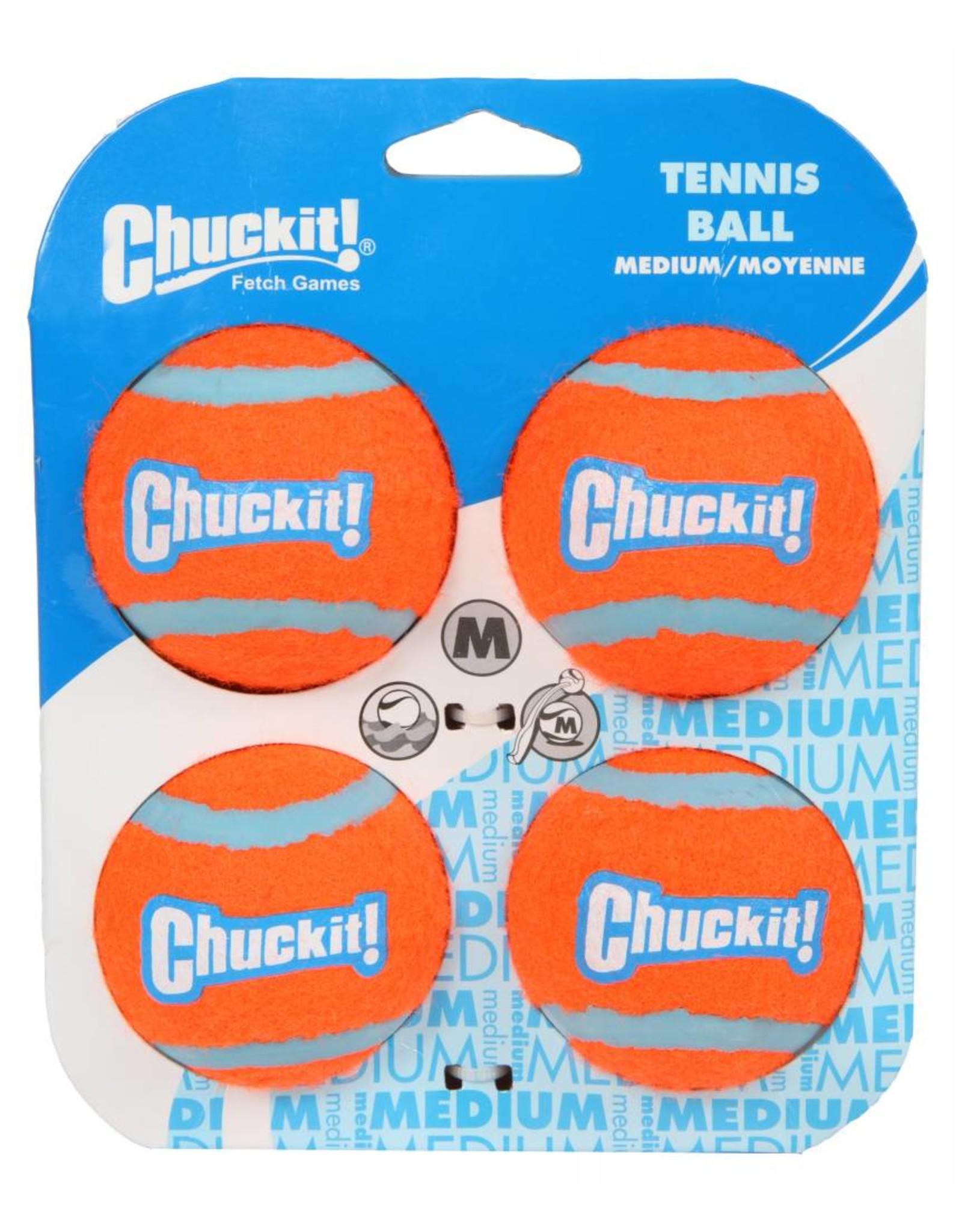 Chuckit Tennis Ball Dog Toy, Medium 6.5cm, 4 pack