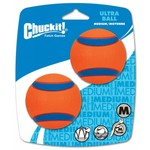 Chuckit Ultra Ball Dog Toy, Medium 6.5cm, 2 pack