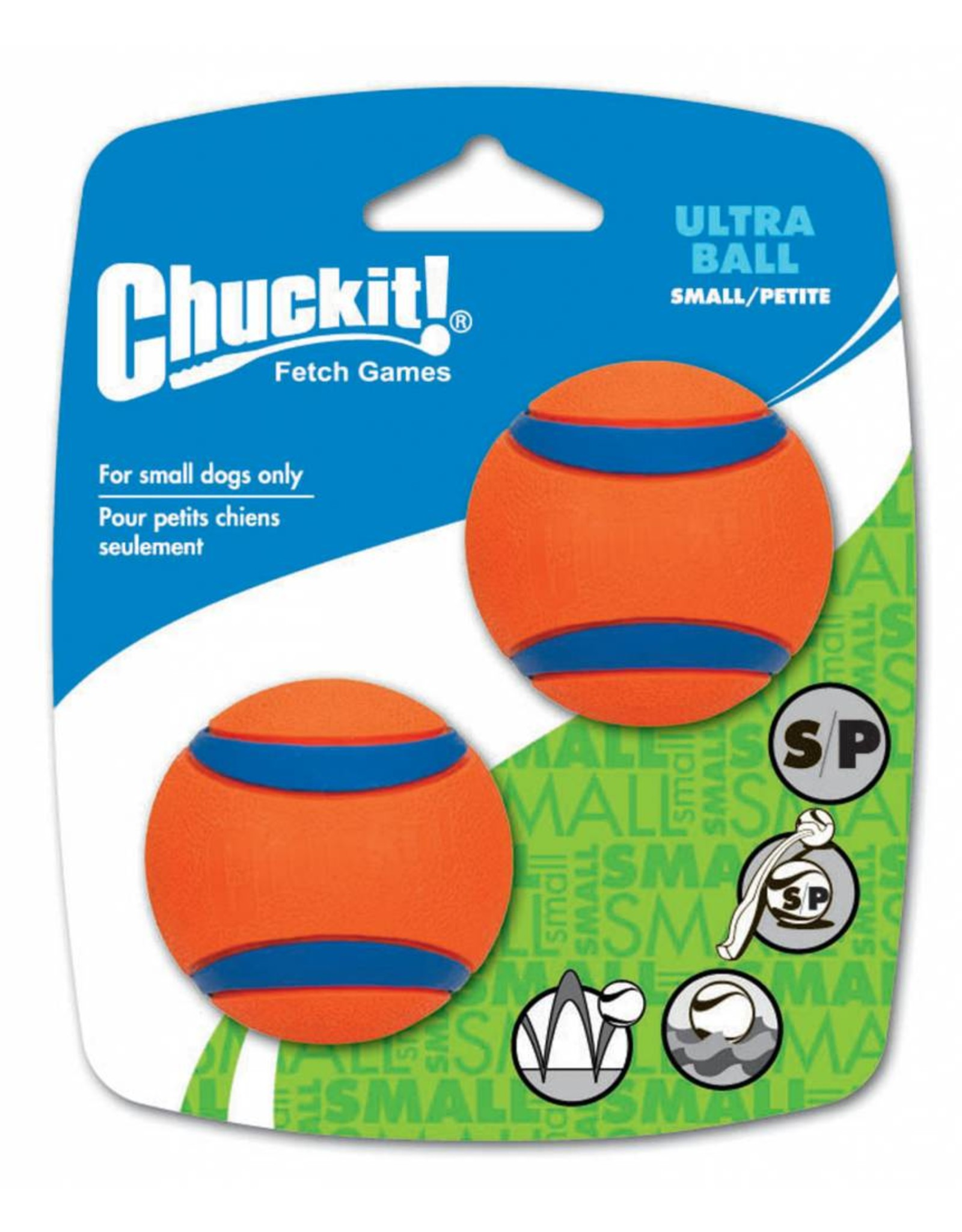 Chuckit Ultra Ball Dog Toy, Small 4.8cm, 2 pack