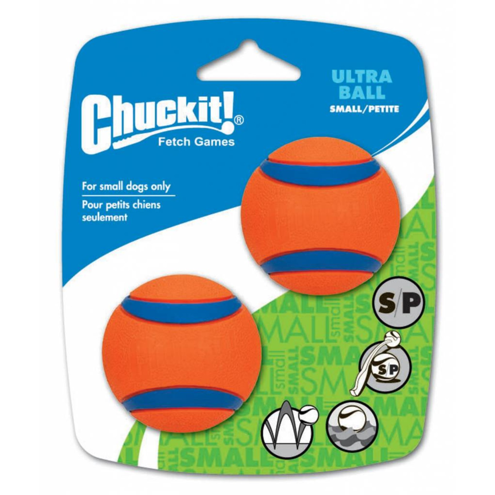 Chuckit! Ultra Ball Dog Toy, Small 4.8cm, 2 pack