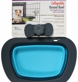 Dexas Popware Collapsible Kennel Bowl, Blue