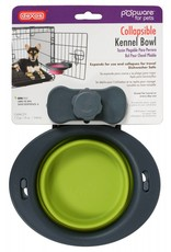 Dexas Popware Collapsible Kennel Bowl, Green