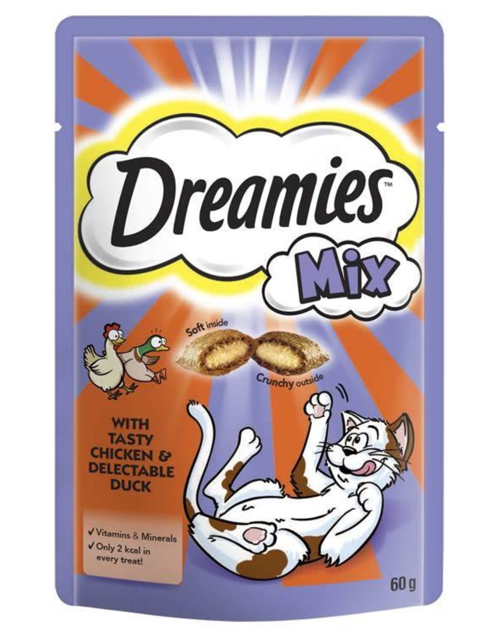 Dreamies Cat Treats Mix Chicken & Duck 60g