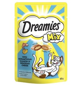 Dreamies Cat Treats Mix Salmon & Cheese 60g