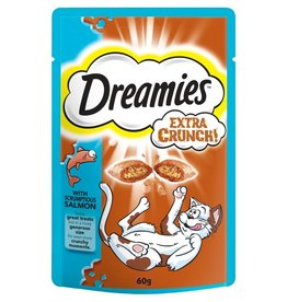 Dreamies Cat Treats Extra Crunch with Salmon 60g
