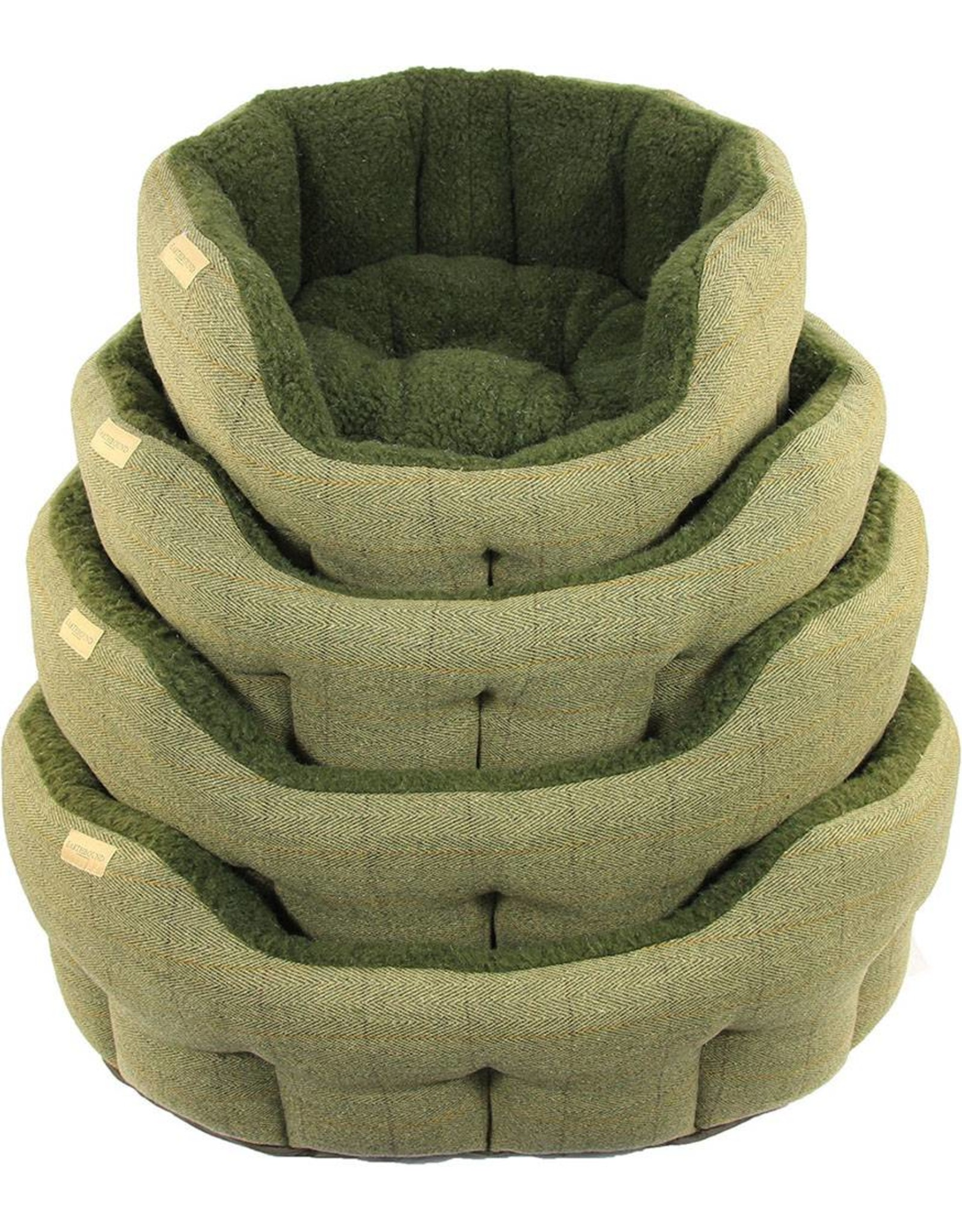 Earthbound Traditional Tweed Dog Bed, Green