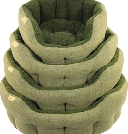 Earthbound Traditional Tweed Bed, Green