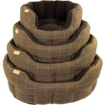 Earthbound Traditional Tweed Dog Bed, Brown