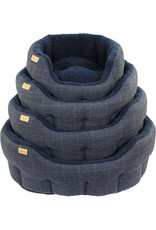 Earthbound Traditional Tweed Dog Bed, Navy