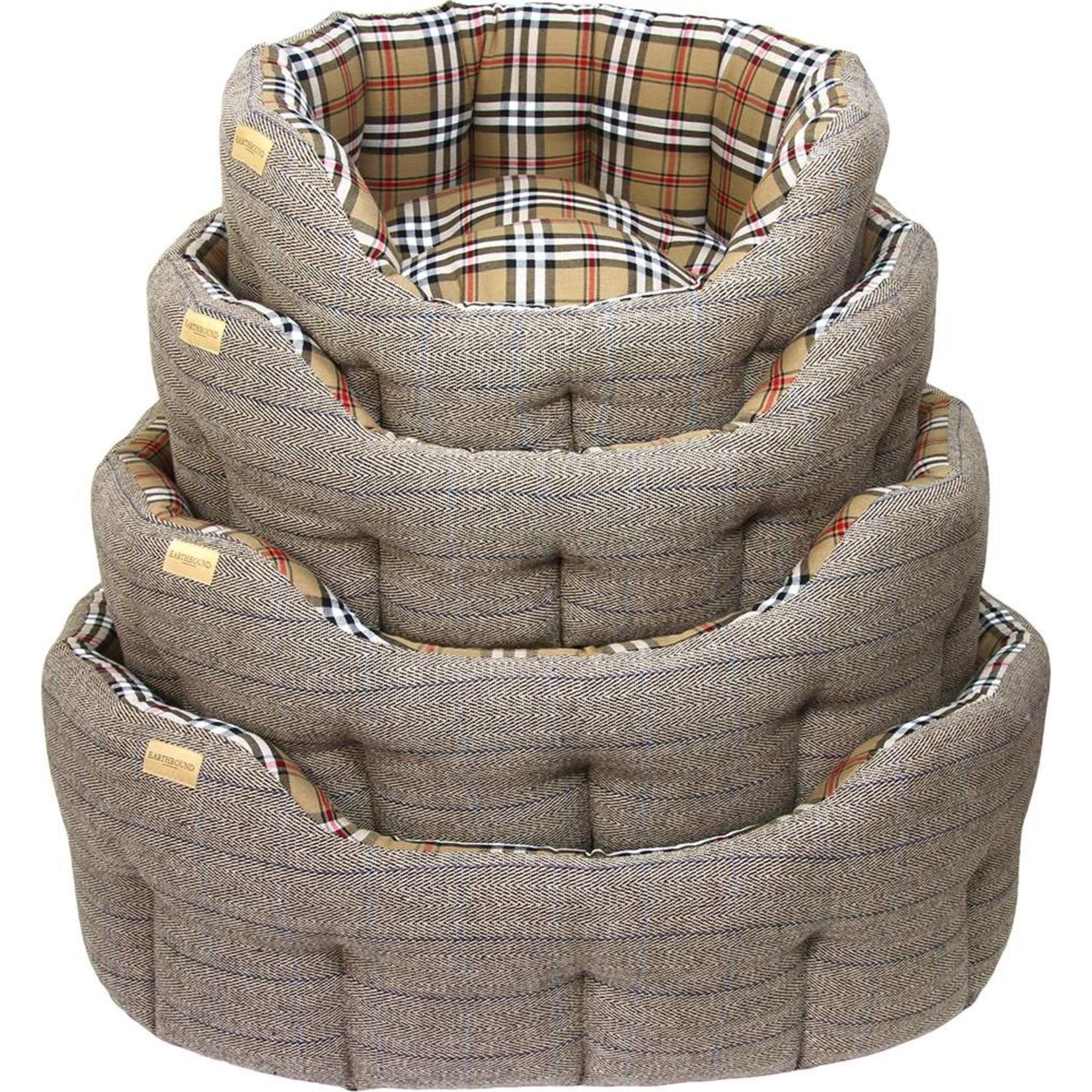 Earthbound Traditional Tweed Dog Bed, Herringbone