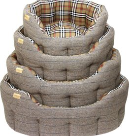 Earthbound Traditional Tweed Dog Bed, Herringbone