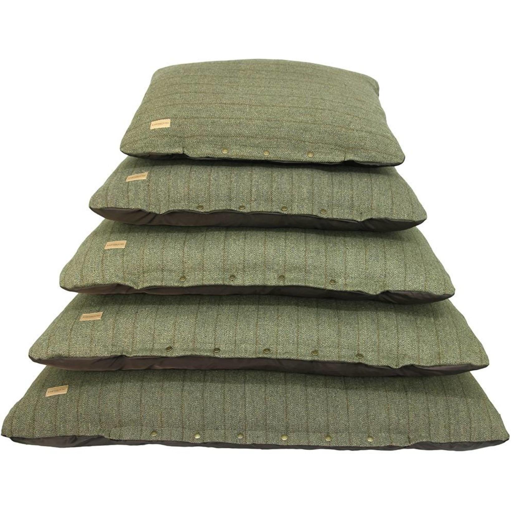 Earthbound Tweed Flat Pet Cushion, Green