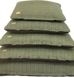 Earthbound Tweed Flat Cushion, Green