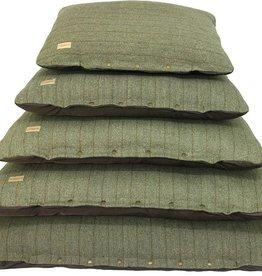 Earthbound Tweed Flat Cushion, Green
