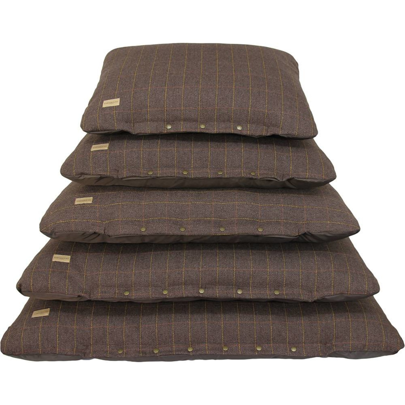 Earthbound Tweed Flat Pet Cushion, Brown