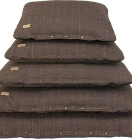 Earthbound Tweed Flat Cushion, Brown