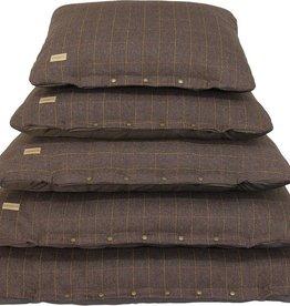 Earthbound Tweed Flat Cushion, Brown