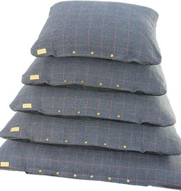 Earthbound Tweed Flat Cushion, Navy