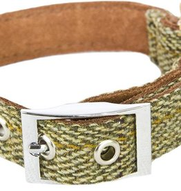 Earthbound Tweed Dog Collar in Green