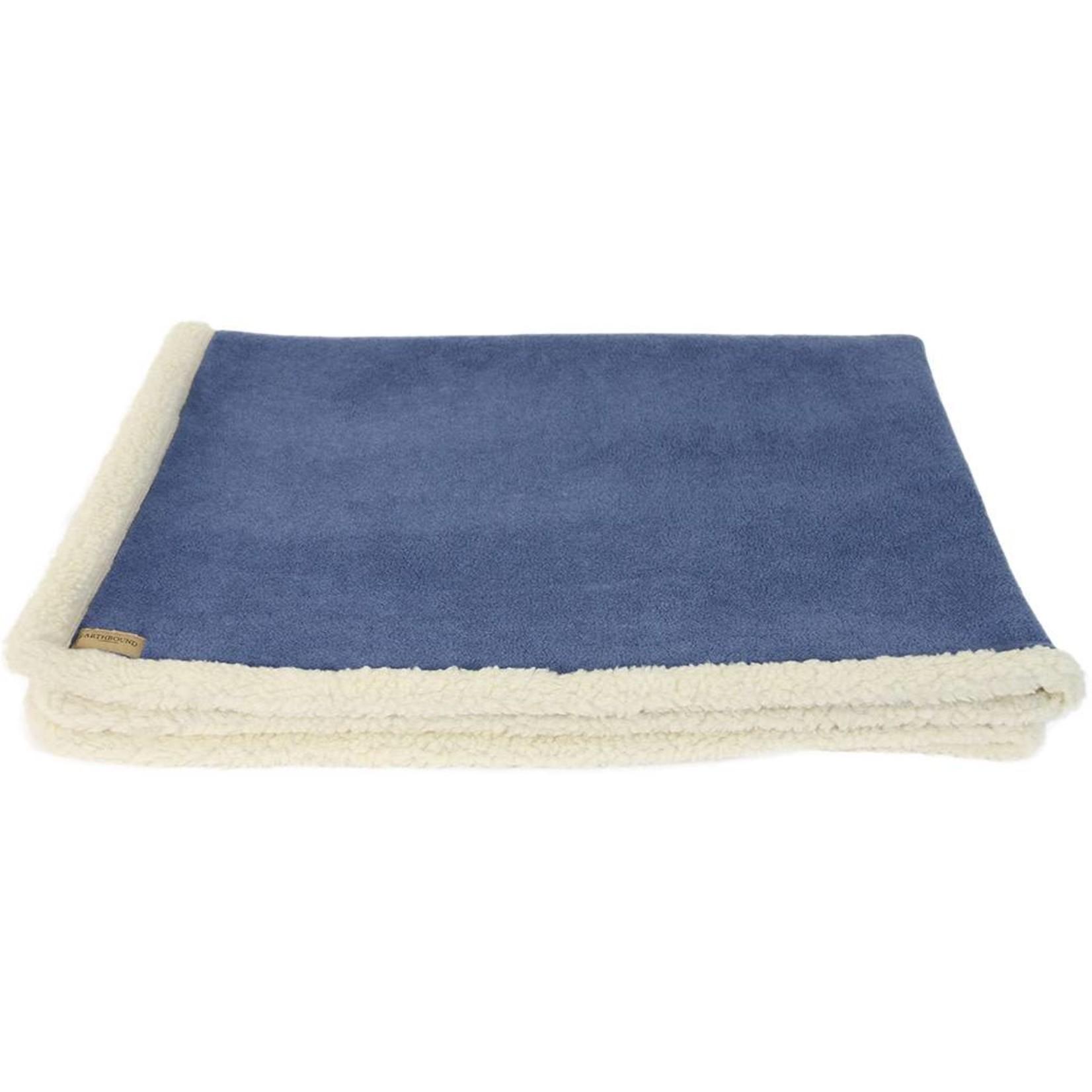 Earthbound Sherpa Pet Blanket, Denim Blue