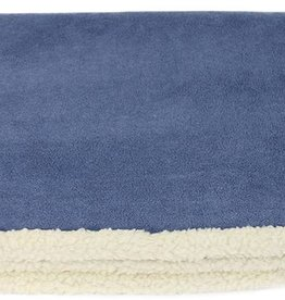 Earthbound Sherpa Pet Blanket, Denim Blue