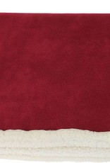 Earthbound Sherpa Pet Blanket, Rusted Red