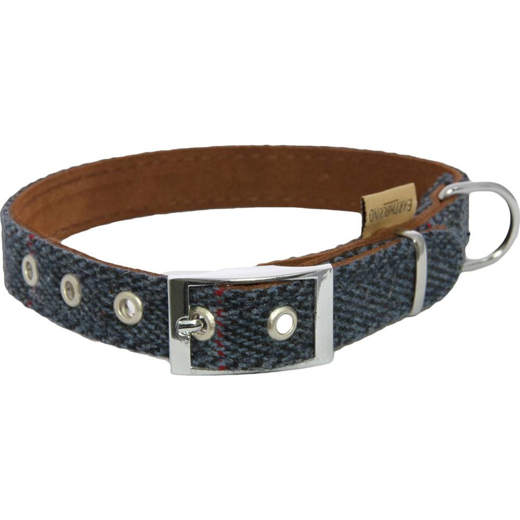 Earthbound Tweed Dog Collar, Navy