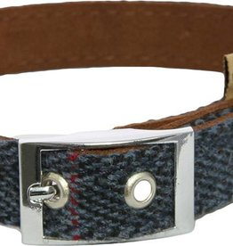 Earthbound Tweed Dog Collar in Navy