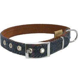 Earthbound Tweed Dog Collar in Navy