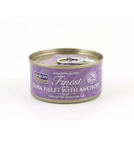 Fish4Cats Finest Tuna Fillet with Anchovy Wet Cat Food, 70g